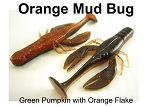 Orange Mud Bug Craw 3.5'' 5 pack
