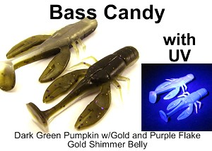 "Bass Candy Craw 2.75"" 5 pack"