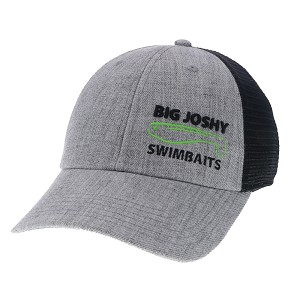 Big Joshy Swimbaits - Grey / Black Mesh Logo Hat