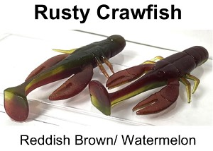 "Rusty Crawfish Craw 2.75"" 5 pk"